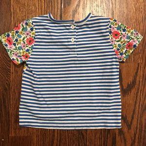 Boden Shirts & Tops - Boden girls mixed print tee